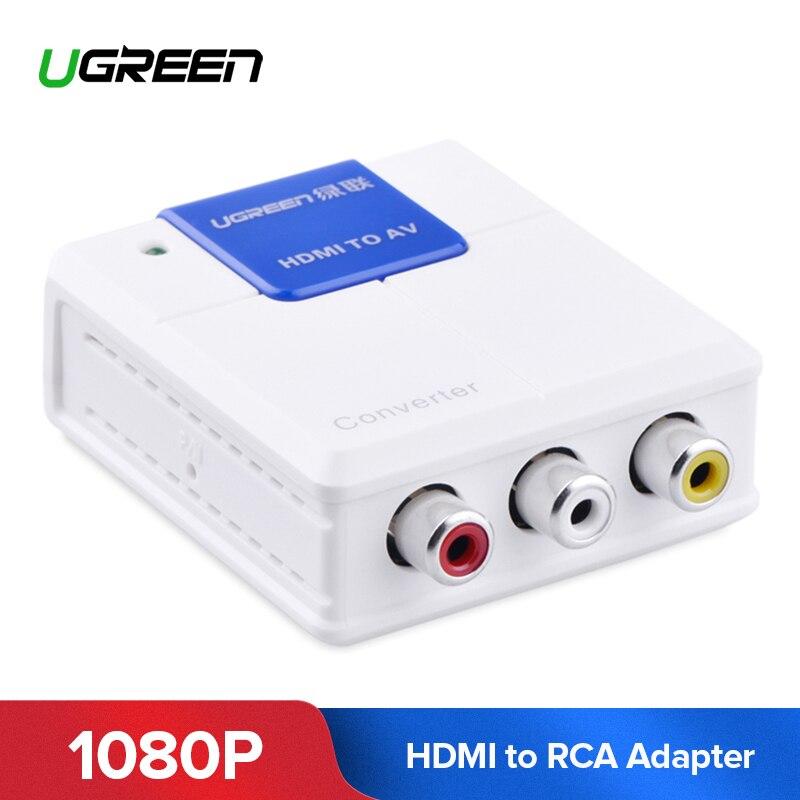 Ugreen HDMI a RCA AV convertidor 1080 p HDMI a AV adaptador de vídeo conector HDMI para Android TV caja inteligente portátil Chromecast PC PS3