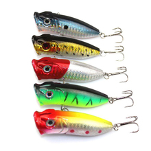 5PCS/Lot 6.5cm/13g Popper Fishing Lure Hard Fishing Baits Top Water Lure Saltwater Fishing Lures for Pike Bass