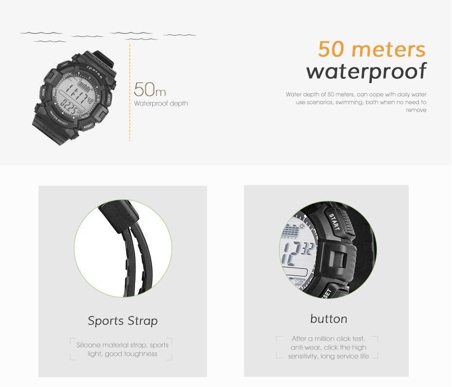 pedômetro eletrônico relógio Bluetooth superfície esportes ao