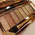Coreia do hot relógio de diamantes brilhando 9 cores profissional da beleza da paleta da sombra de olho duradoura natural makeup eyeshadow frete grátis s399