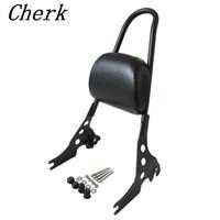 Black Detachable Luggage Rack Sissy Bar Rear Passenger Backrest Cushion Pad For Harley Sportster 883 1200