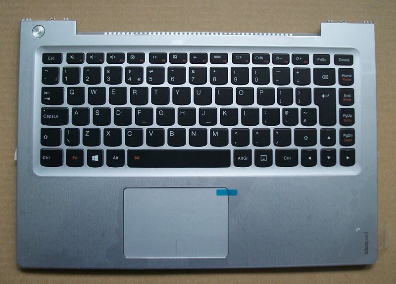 New Original Lenovo Ideapad U330 U330P UK Keyboard W/ Bezel Palmrest Top Upper Case Cover Silver Big Enter Key 7 4v 45wh original new u330 laptop battery for lenovo ideapad u330 u330p u330t series l12m4p61 l12l4p63 21cp5 69 71 3