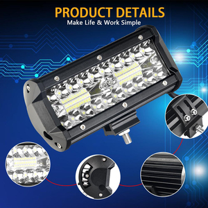 Image 2 - Led Work light 6.5 inch Led Bar for Off Road 4x4 4WD ATV UTV SUV Driving Motorcycle Truck Led Light Bar Auto Lamp