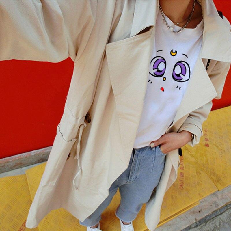 Summer Korean Cute Pattern Print T-Shirt White Wild Loose Top 2018 Women Clothes