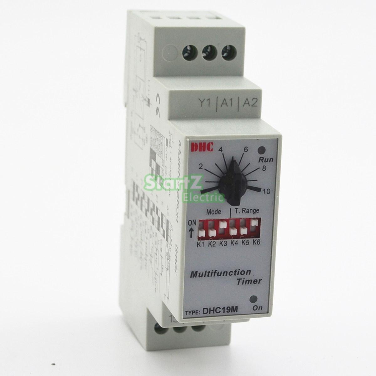 Multifunction Timer Relay Switch 0.6S-100H AC/DC 24-240V (50/60Hz) стоимость