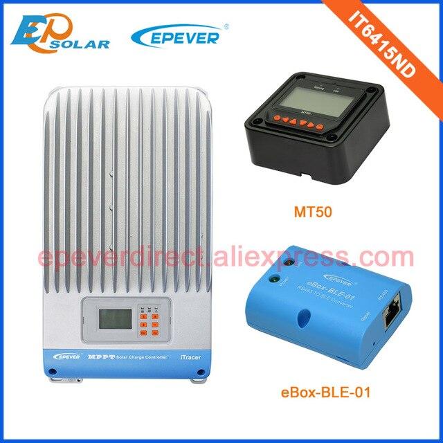 12v/24v/36v/48v 60amp voltage solar regulator EPsolar IT6415ND 60A+MT50 remote meter MPPT eBOX-BLE-01 bluetooth function