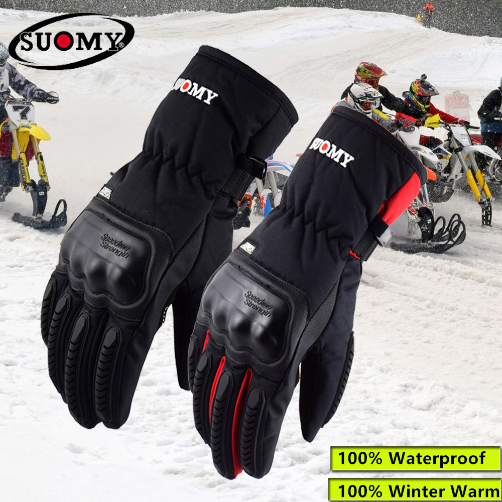 2018 neue Ankunft Suomy Schwarz Wasserdichte Motorrad Handschuhe Winter Warm Halten Motocross Handschuhe Männer Alpine Sterne Guantes Moto