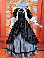 Gosick Victorique De Blois Black Dress Cosplay Costume