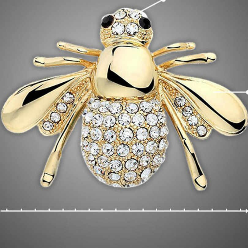 2018 Versi Korea Baru Lucu Animal Bee Bros Wanita Perhiasan Modis Kristal Bros Bohemian Bros