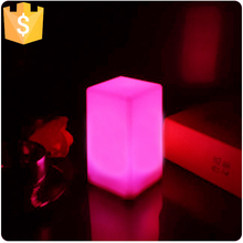 Home/Hotel decor 7 Color change portable led night light Glowing Table Lamps for Christmas Decoration free shipping 10pcs/Lot