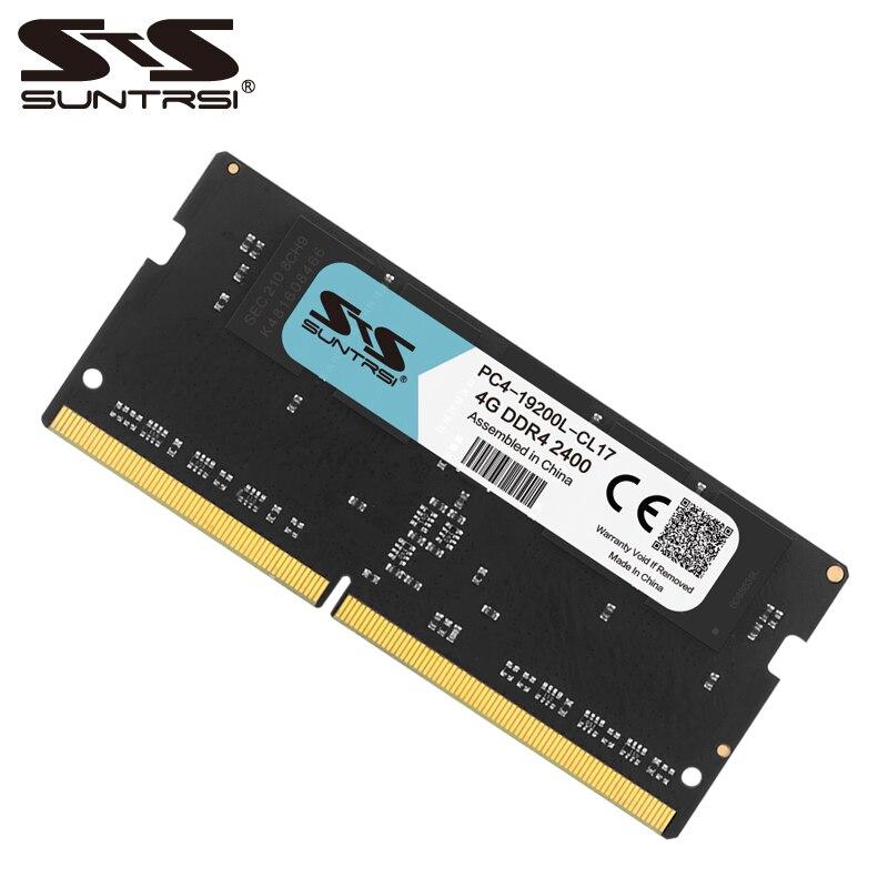 Suntrsi ordinateur portable mémoire DDR4 4 GB Ram support memoria ddr4 ordinateur portable 1.2 V 2400 MHz 2133 MHz nouveau