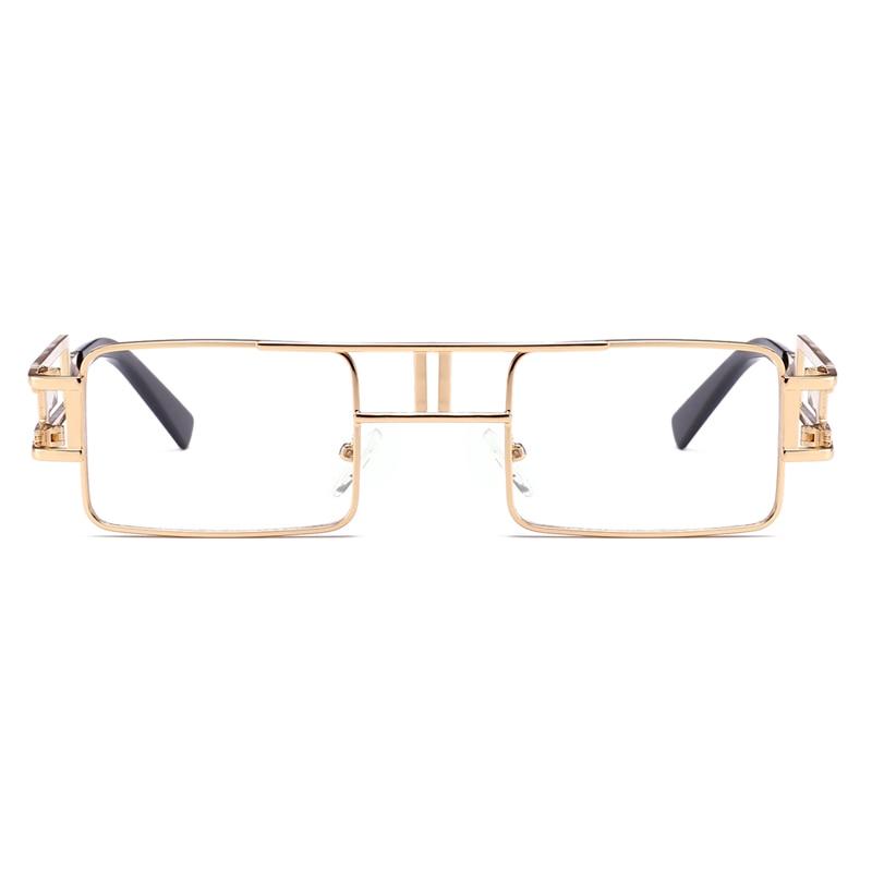 8e5e47de8e4 Kachawoo wholesale 6pcs gothic steampunk glasses men metal frame vintage rectangle  glasses frame women accessories 2018 hot sale-in Eyewear Frames from ...