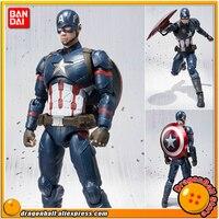 Капитан Америка: Гражданская война оригинальные BANDAI Tamashii Наций СВЧ/S. h. figuarts игрушка фигурку Капитан Америка