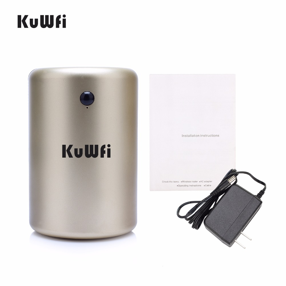 KuWfi 300Mbps Wireless Router Home Networking Cylinder Cool Design ...