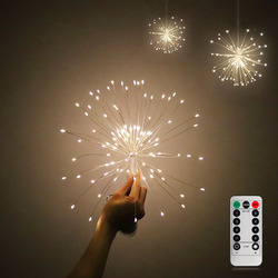 DIY Fireworks Light Foldable Bouquet Shape LED String Decorative Fairy Lights For Garland Patio Wedding Party Christmas Light