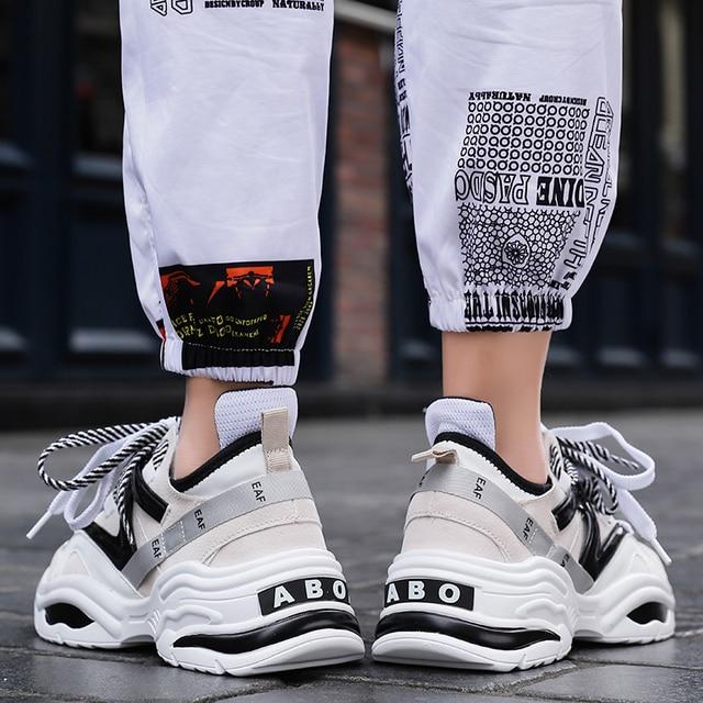 2019 Harajuku Autumn Vintage Sneakers Men Breathable Mesh Casual Shoes Men Comfortable Fashion Tenis Masculino Adulto Sneakers 5