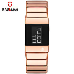 Watches Bracelet Rose-Gold Digital Stainless-Steel Waterproof Women Ladies Fashion