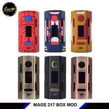 Original coilart MAGO 217 CAIXA MOD 217 w mods vape cigarro eletrônico Compatível com 21700, 20700 e 18650 bateria para vapor