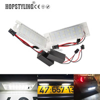 Hopstyling 2pcs 18SMD White LED License Plate Light Error Free For Fiat Grade Punto Multipla Marea