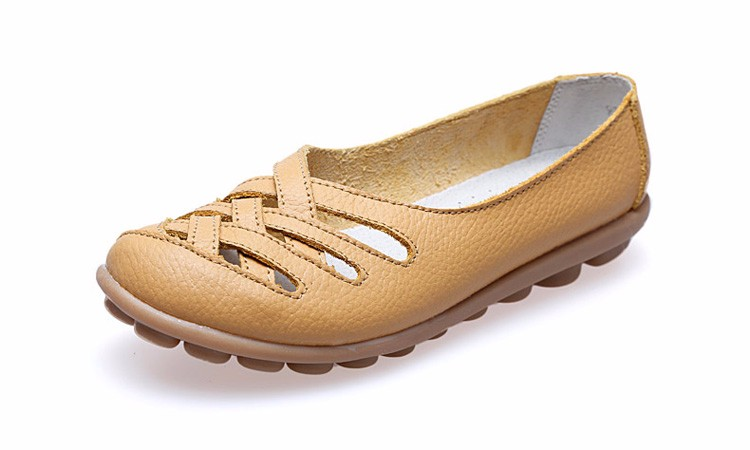 Hot Sale 2016 Spring New PU Leather Woman Flats Moccasins Comfortable Woman Shoes Cut-outs Leisure Flat Woman Casual Shoes ST181 (16)