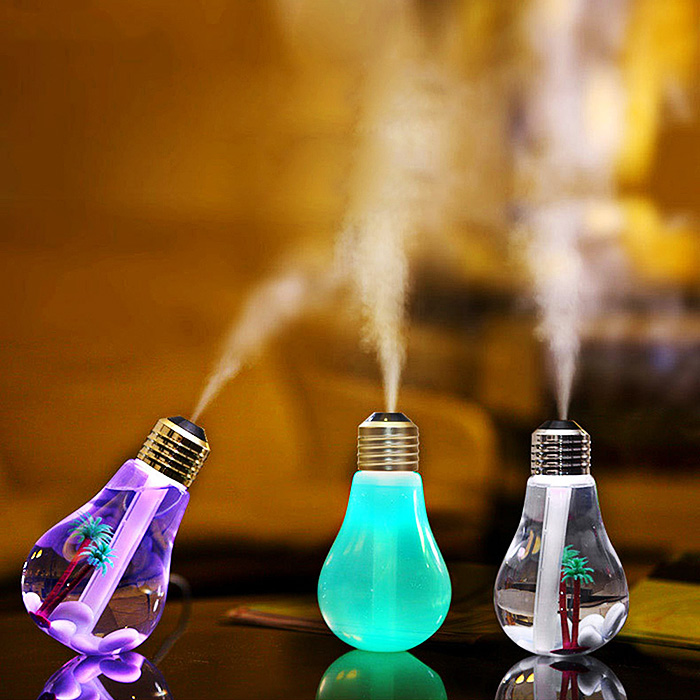 FIMEI USB Ultrasonic Humidifier Home Office Mini Aroma Diffuser LED Night Light Aromatherapy Mist Maker Creative Bottle bulb