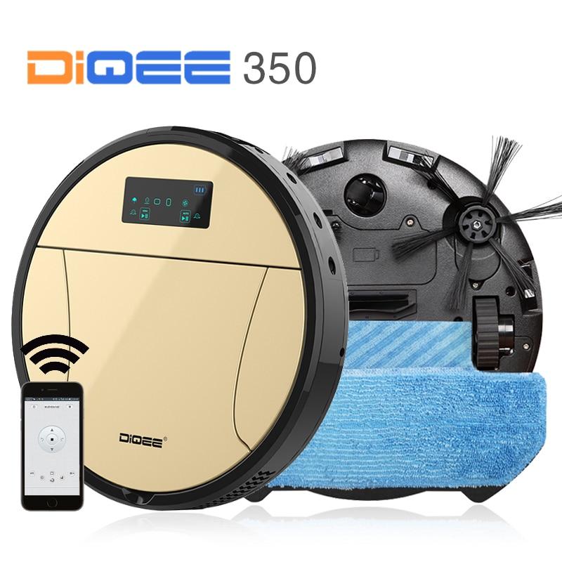 DIQEE 350 Intelligente Robot Aspirapolvere per la Casa ciclone Spazzare Polvere Sterilizzare Programma Automatico mop Pulito Filtro HEPA