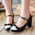 New spring sweetheart Mary Jane shoes woman ladies party shoes chunky heels