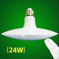 НЛО Диммируемый светодиодный светильник энергосберегающий светодиодный светильник SMD 2835 Светодиодный лампы E27 24 W интеллигентая (ый) Светод...