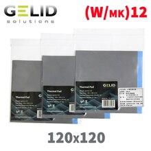GELID TP-GP02 120x120x0,5 1,0 1,5 графического процессора вентилятор охлаждения радиатора проводящая Силиконовая накладка термопрокладка высокого качества