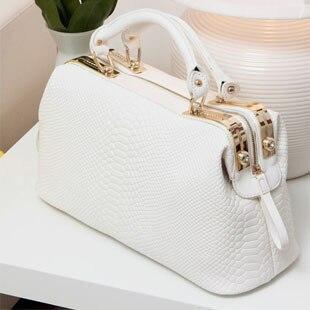 Women White Bag 2015 Fashion Womens Messenger Bag Box Shaped ...