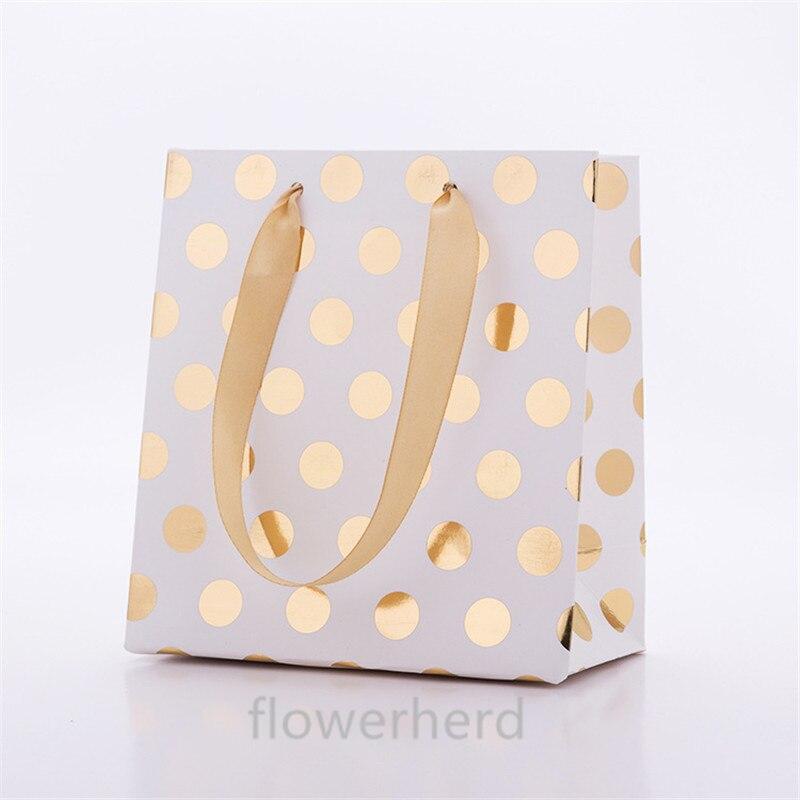 50 pcs 300gsm carton argent papier doré sacs-cadeaux de mariage sacs-cadeaux d'anniversaire sacs-cadeaux fourniture de fête 15*14*7 cm sacs-cadeaux - 5