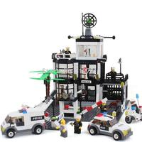 City Police Station Model Building Blocks Sets KAZI 6725 631Pcs Headquarters Action Figures Educational Baby Toys
