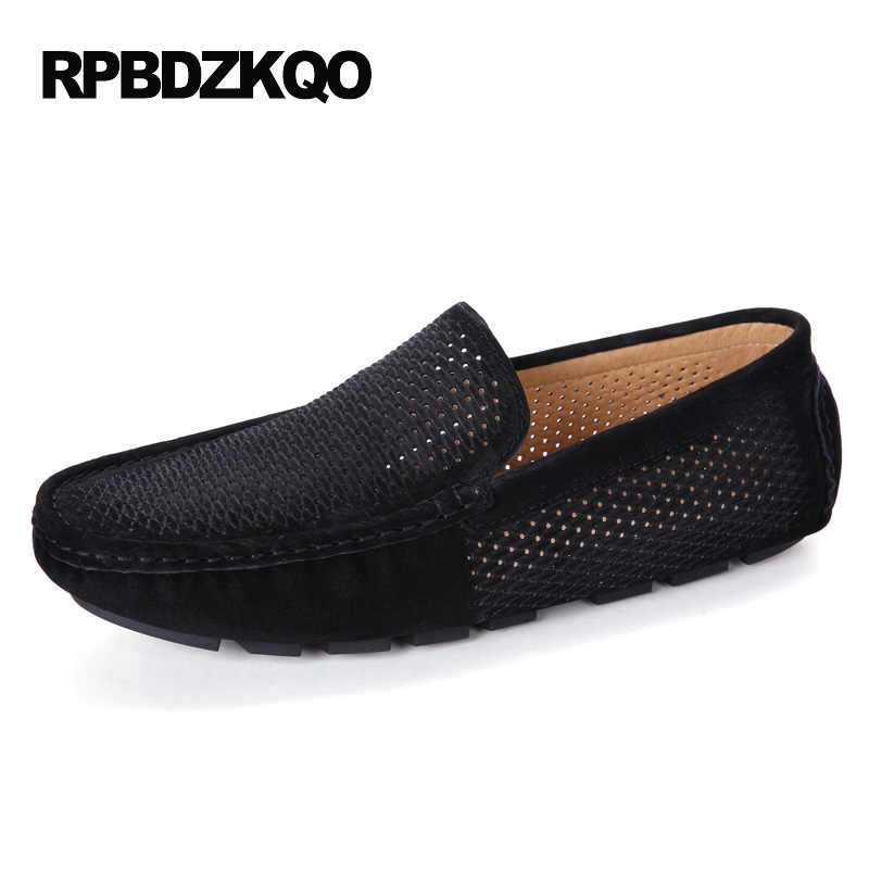 British Style 2017 New Summer Breathable Men Loafers Lightweight Black Casual Slip On Moccasins Blue Comfort Shoes Stylish cbjsho british style summer men loafers 2017 new casual shoes slip on fashion drivers loafer genuine leather moccasins