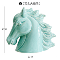 Modern simplified living room cabinets Office adornment ceramic horse Craftwork ornament craft statues Home decoration dies