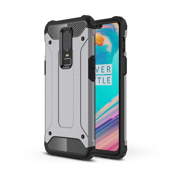 wholesale dealer 74c06 ae1eb US $2.79 30% OFF|For Oneplus 6T 6 5T 5 Neo Hybrid Rugged Armor Case Carbon  Fiber Reinforced Hard Bumper Frame Soft Silicone Rubber Cover Fundas-in ...