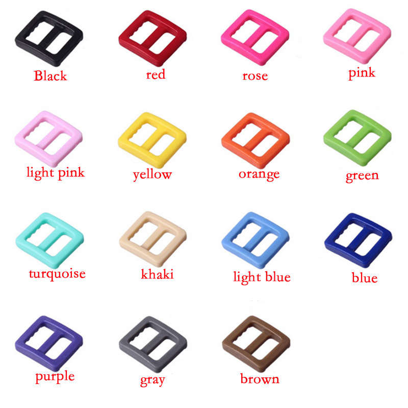 Apparel Sewing & Fabric Hearty 20pcs/ Pack 3/8 Plastic Mix Colors Slider Tri-glide Adjust Tri-ring Buckles Backpack Straps Webbing 10mm #a038