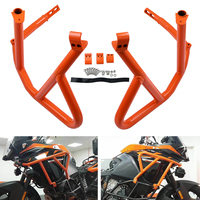NICECNC Stainless Steel Frame Upper Crash Bars Protector Guard For KTM 1050 1090 1190 Adventure 1290 Super Adv S R 2013 2018