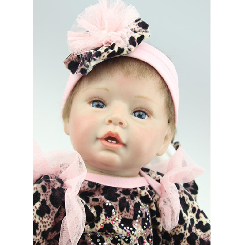 Lovely Silicone Reborn Dolls with Clothes,20 Inch Lifelike Baby Reborn Plaything Toys for Children Birthday Gift short curl hair lifelike reborn toddler dolls with 20inch baby doll clothes hot welcome lifelike baby dolls for children as gift
