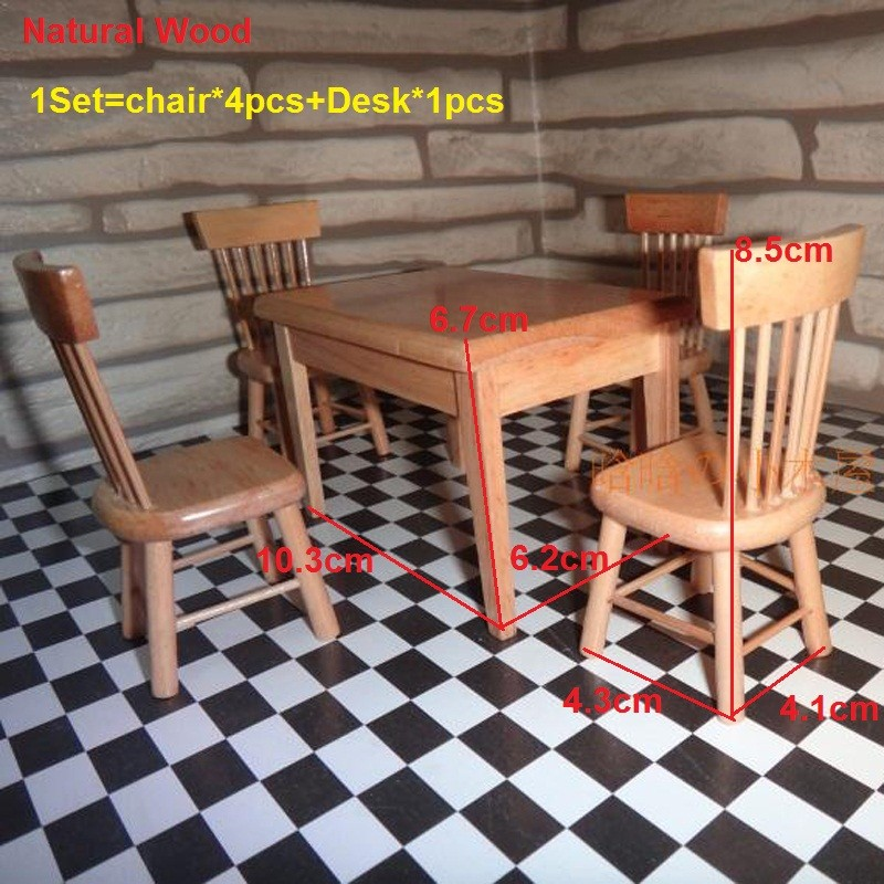 Dining table and chair set doll house 9