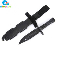 CS Game counter strike survival tactical swords real combat fight Tactical Training M9 rubber plastic soft knife toy