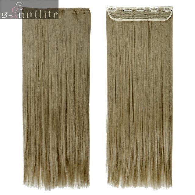 24 Ash Blonde 58cm 145g Women Clip In Hair Extensions Half Full Head