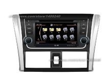 For Toyota Yaris Sedan 2013~2015 – Car GPS Navigation System + Radio TV DVD BT iPod 3G WIFI HD Screen Multimedia System