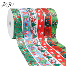 JOJO BOWS 38mm 2y Grosgrain Stain Ribbon For Handicraft Christmas Printed Webbing For Needlework DIY Hair Bow Tape Holiday Decor цена