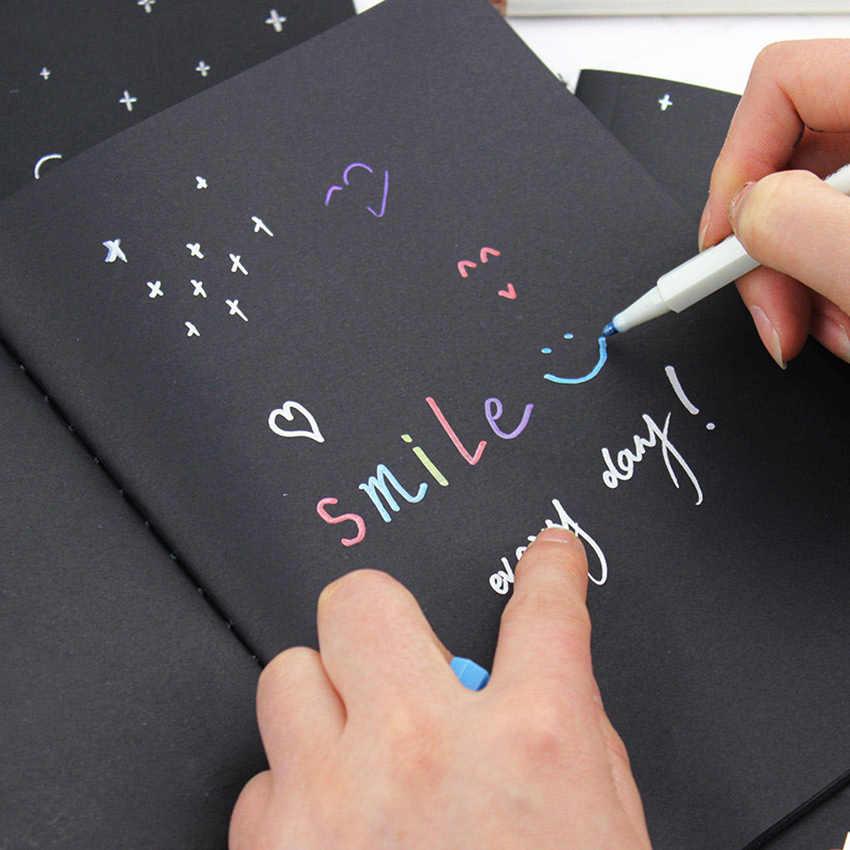 Nuovo Sketchbook Diario per il Disegno Pittura Graffiti Molle Della Copertura di Carta Nera Taccuino del Libro di Scuola Forniture per Ufficio Regalo