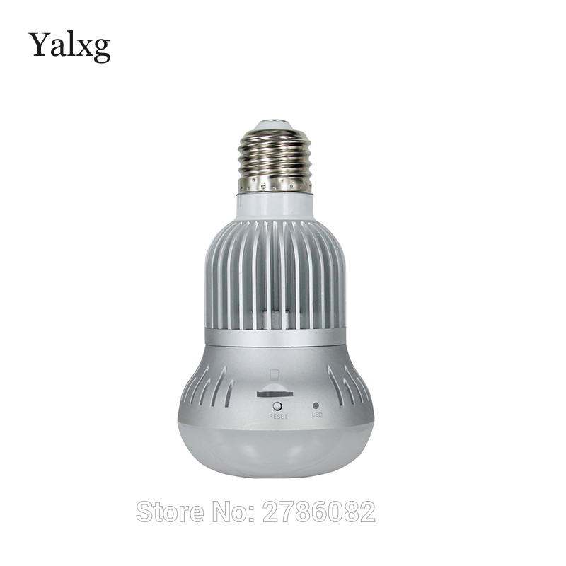 Yalxg Security Home New Mini Wi-fi HD 960P Lamp Panoramic Camera Wireless Bulb CCTV Security DVR Support IOS/Android Viewing eplutus dvr 920 wi fi 2 камеры