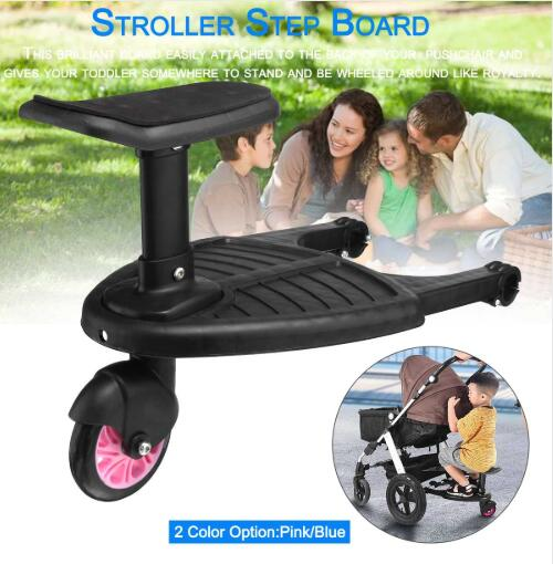Baby Stroller Step Board Stopping Plate Twins Strollers Accessory Outdoor Activity Board Stroller Baby Seat Standing