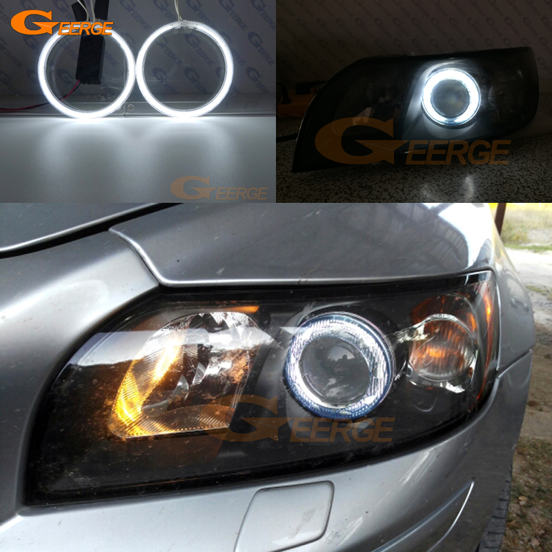 Per Volvo S40 V50 2004 2005 2006 2007 lente del proiettore Eccellente angel eyes Illuminazione ultra brillante Kit CCFL Angel Eyes