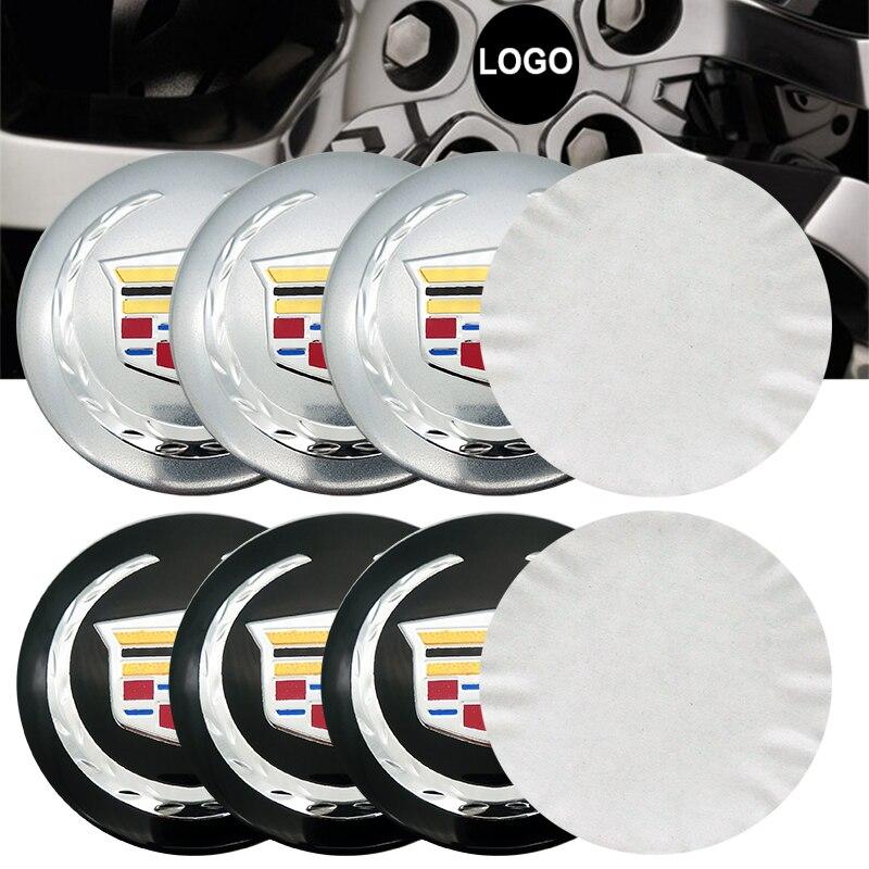 4pcs 56mm Car Emblem Wheel Center Hub Cap Badge Wheel Decal Sticker For Cadillac Cts Ct6 Ats Xt5 Srx Bls Xts Cadillac Escalade