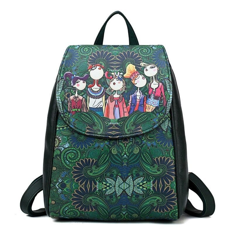 Fashion New Women Bacpack Female Rucksack Leisure Shoulder Bag Student School Bag  Pu Leather Women Bag Daypack
