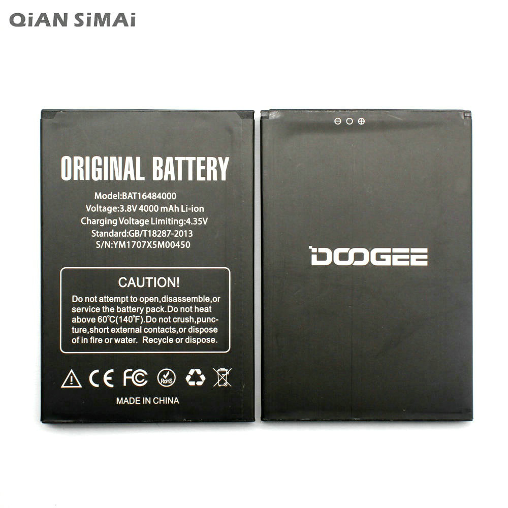 QiAN SiMAi 1pcs 100% High Quality BAT16484000 4000mAh Battery For DOOGEE X5 MAX x5max Pro phone battery +Tracking Code